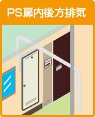 PS扉内後方排気
